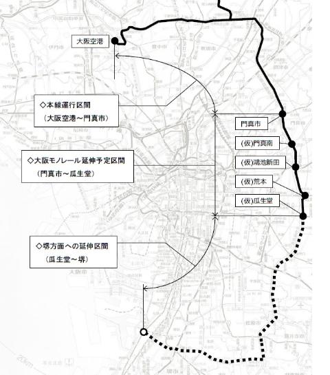 モノレール路線図