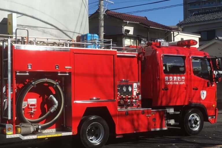 久宝寺駅付近火事