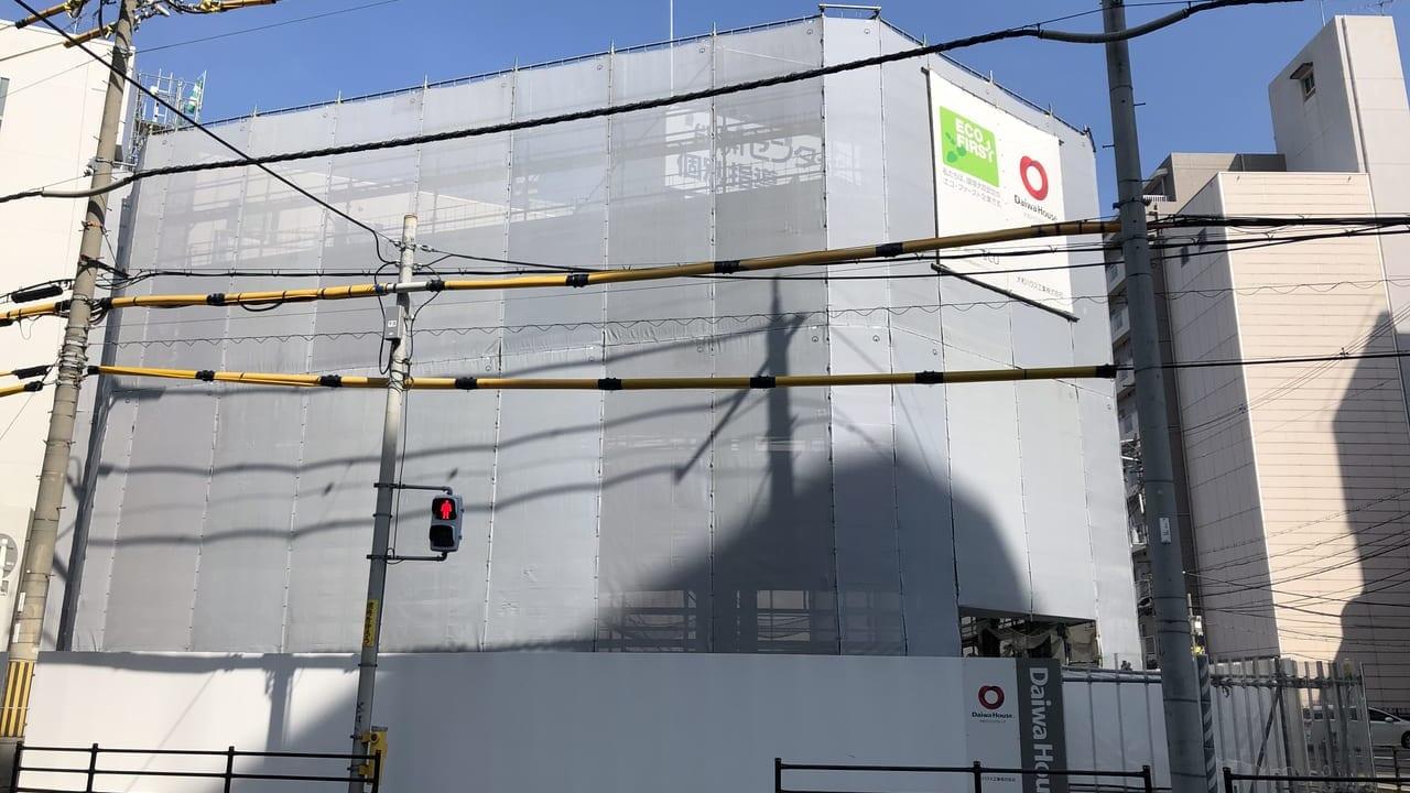 建設中の建物
