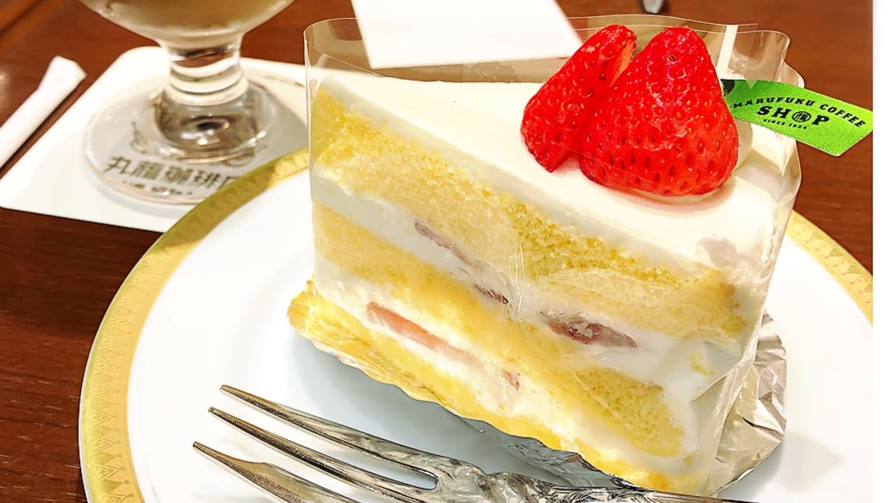 丸福珈琲のケーキ