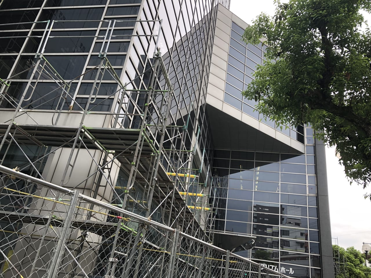改修工事中のプリズムホール